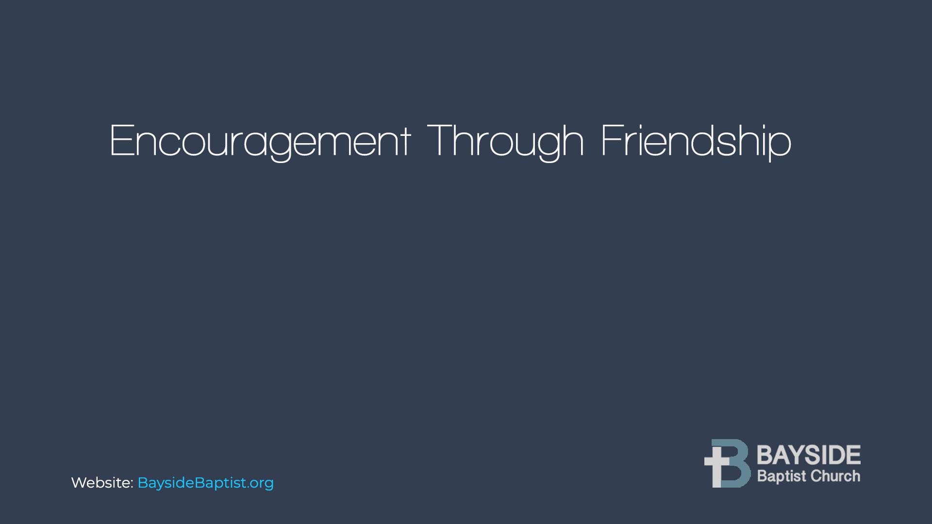 Encouragement Through Friendship Image