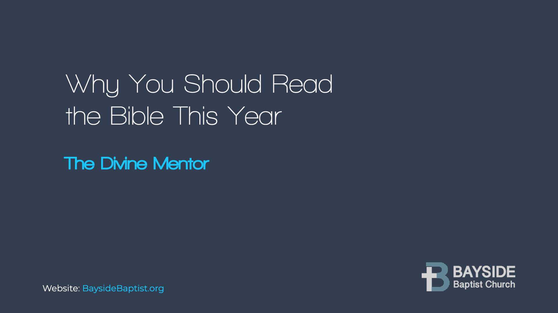 Why You Should Read the Bible This Year Image