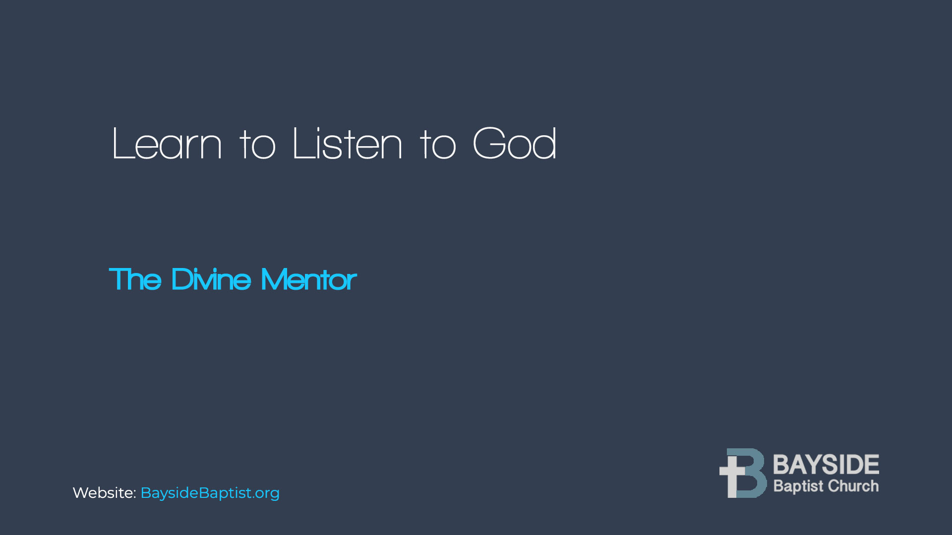 Learn to Listen to God Image