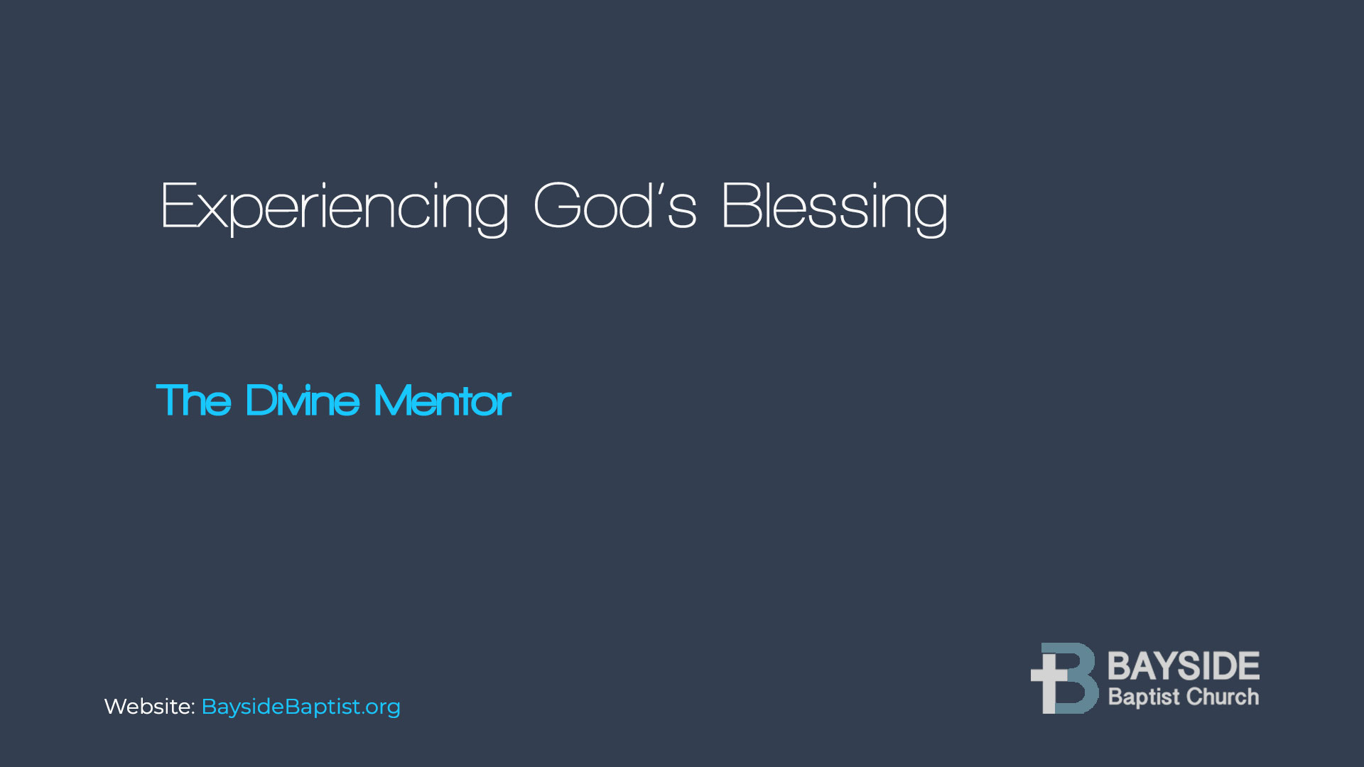 Experiencing God's Blessing Image