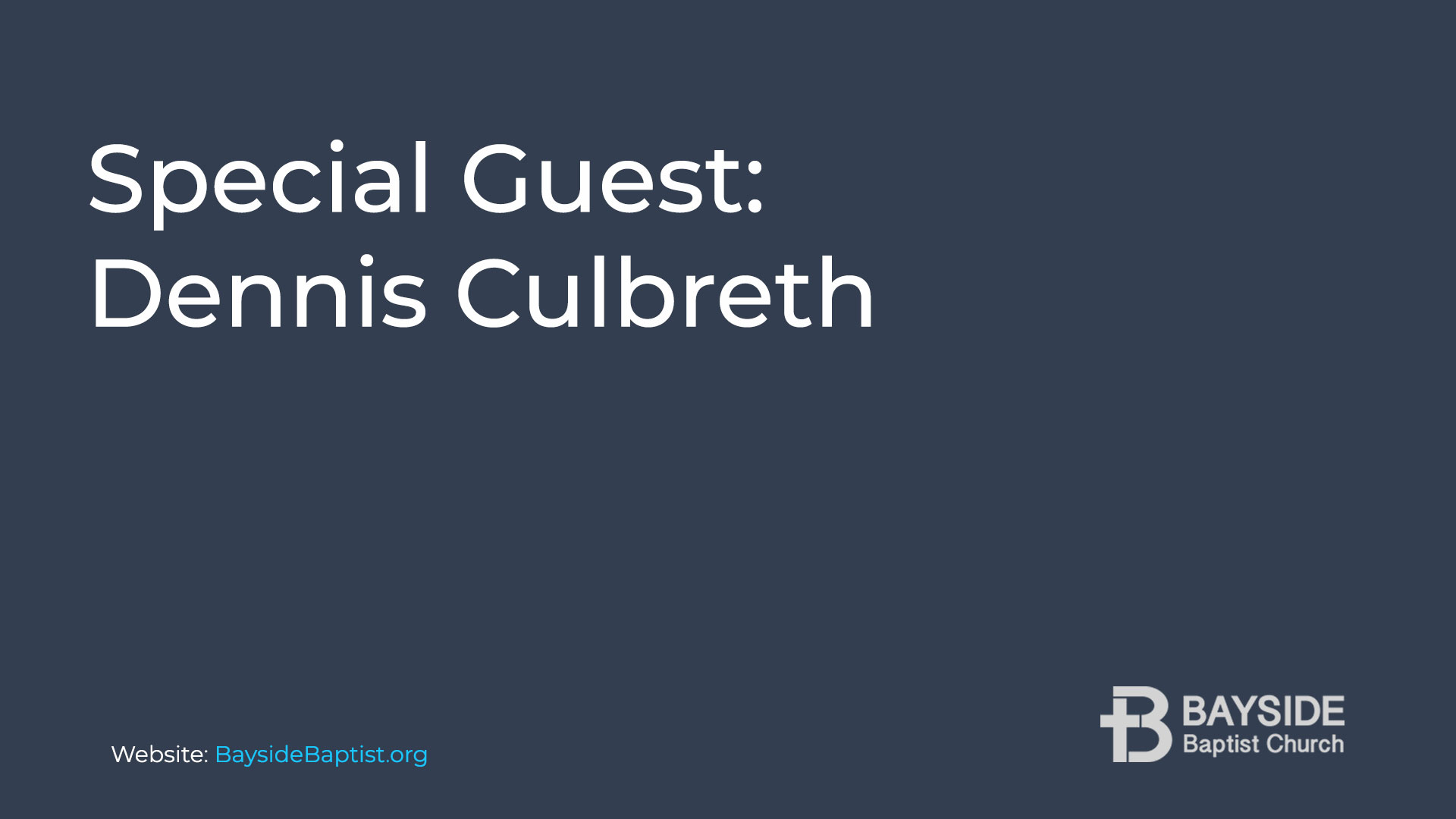 Special Guest: Dennis Culbreth Image