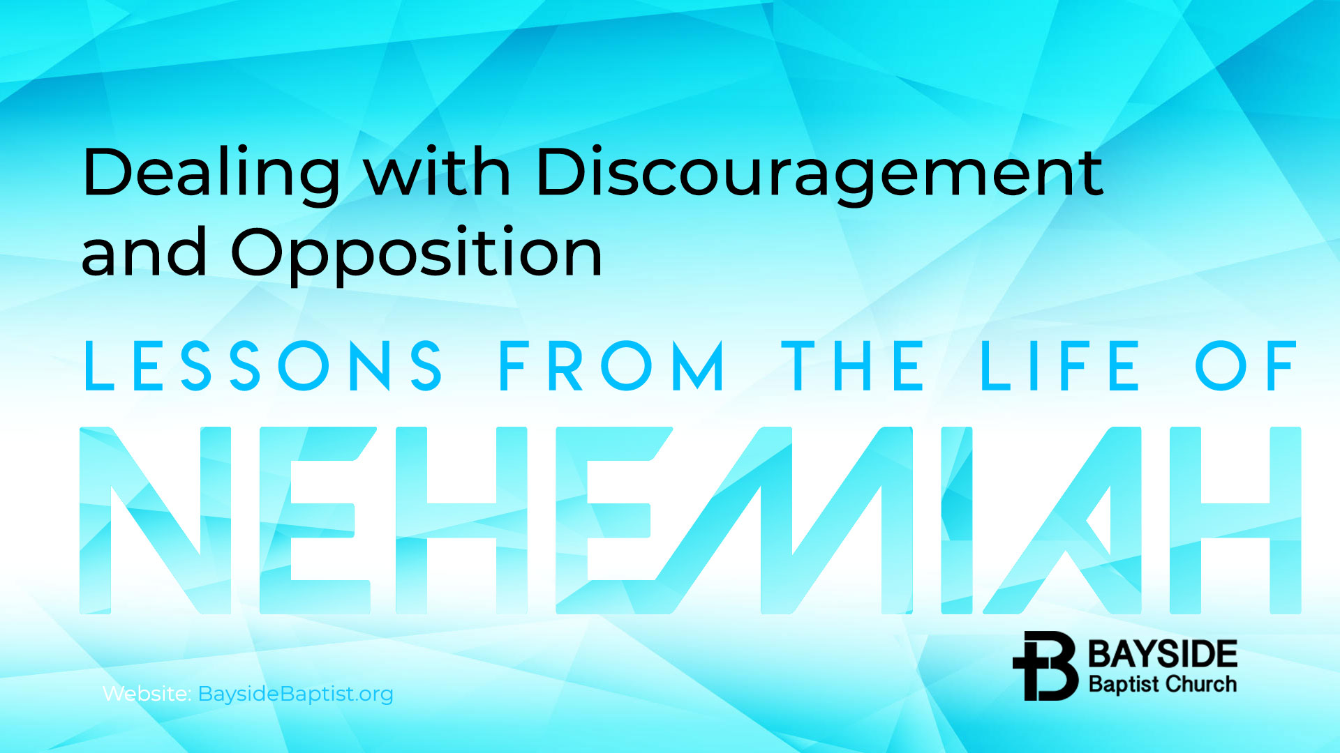 Dealing with Discouragement and Opposition Image